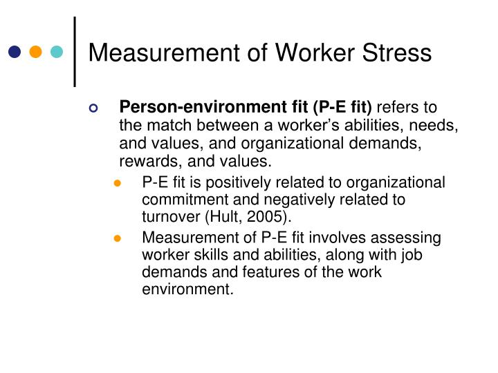 Measurement of Worker Stress