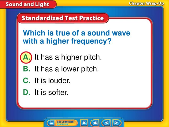 Which is true of a sound wave with a higher frequency?