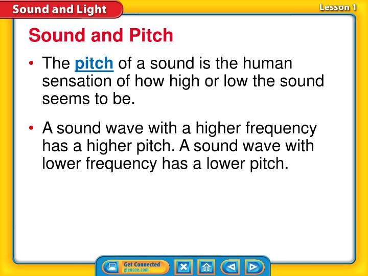 Sound and Pitch