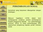 perkembangan sosial