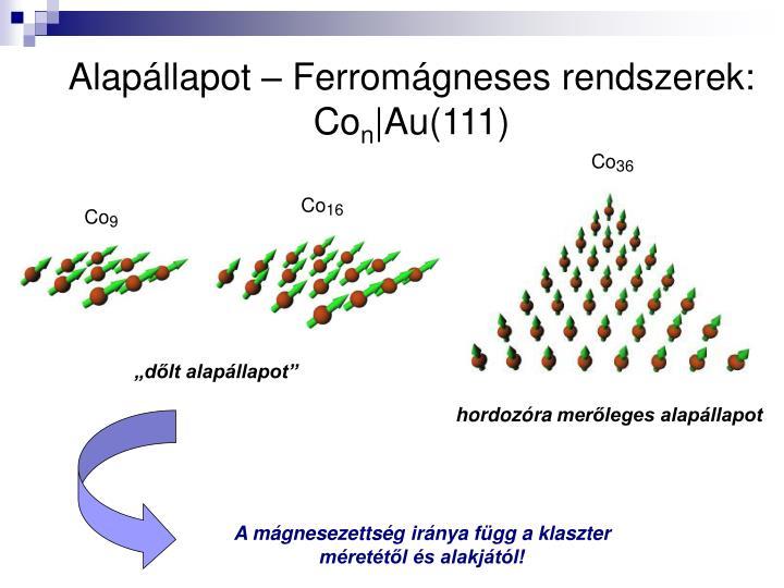 Alapállapot – Ferromágneses rendszerek: