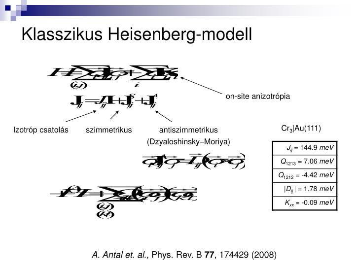 Klasszikus Heisenberg-modell
