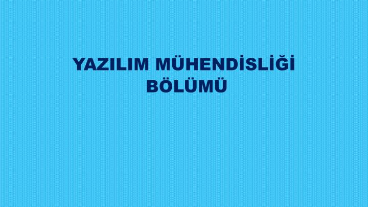 YAZILIM MHENDSL