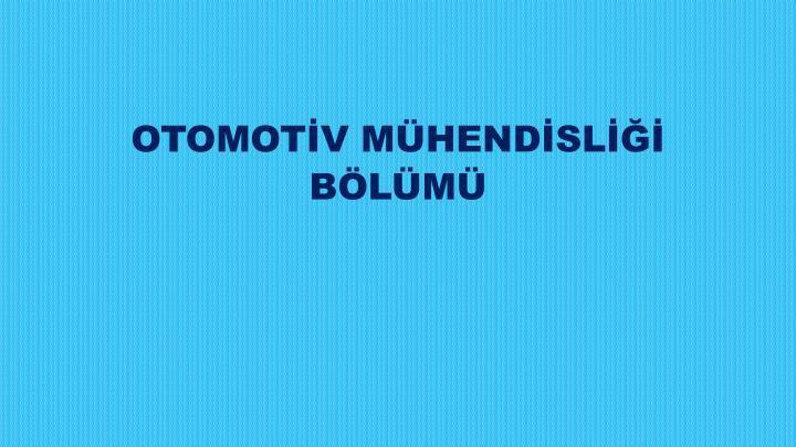 OTOMOTV MHENDSL
