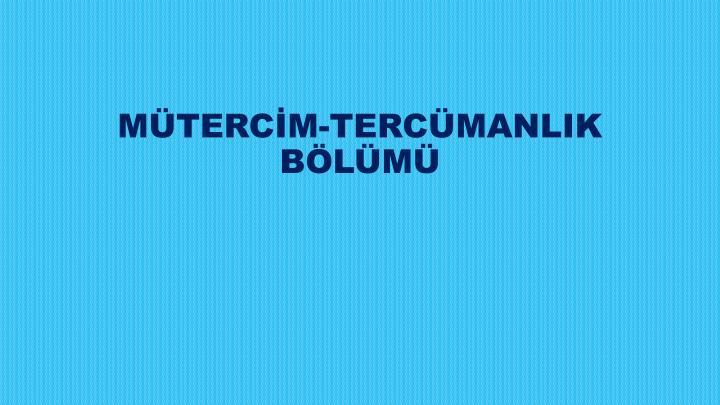 MTERCM-TERCMANLIK BLM