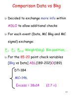 comparison data vs bkg