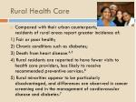 rural health care1