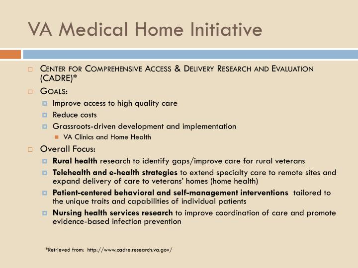 VA Medical Home Initiative