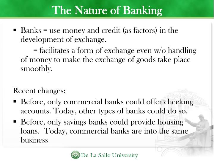 The Nature of Banking