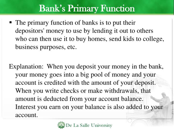 Bank's Primary Function