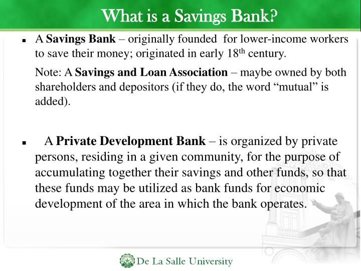 What is a Savings Bank?