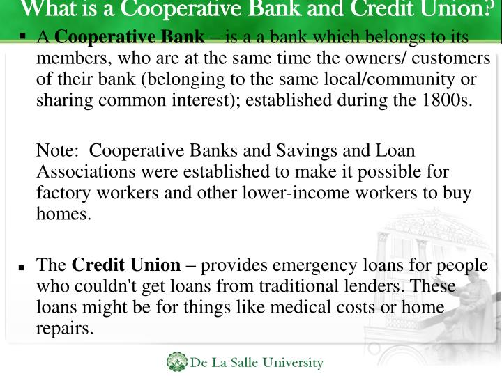 What is a Cooperative Bank and Credit Union?