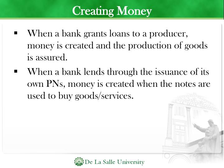 Creating Money