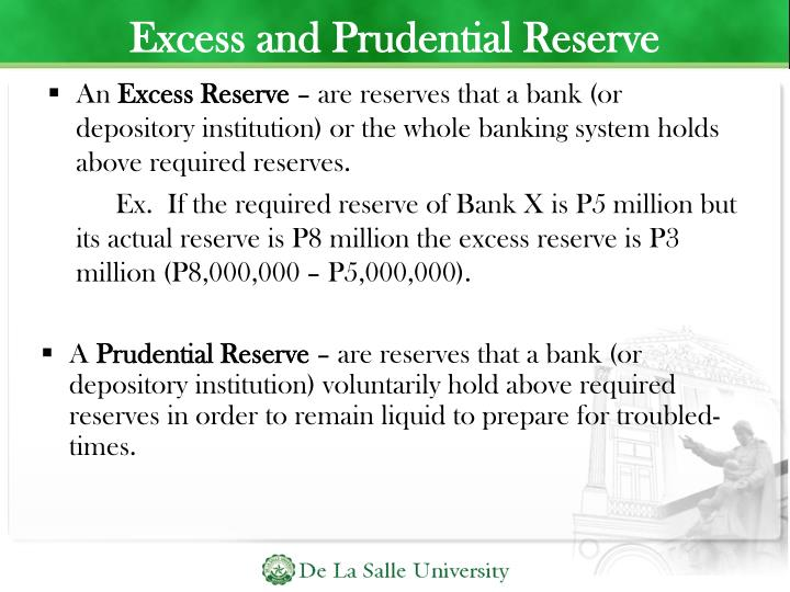 Excess and Prudential Reserve