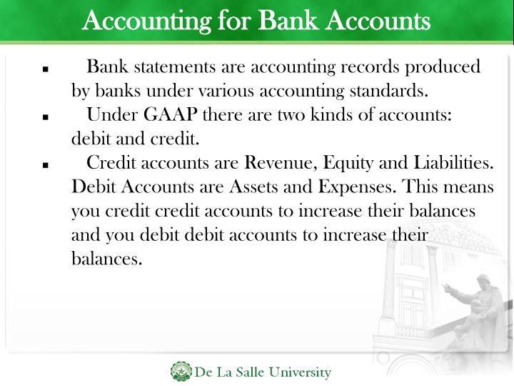 Accounting for Bank Accounts