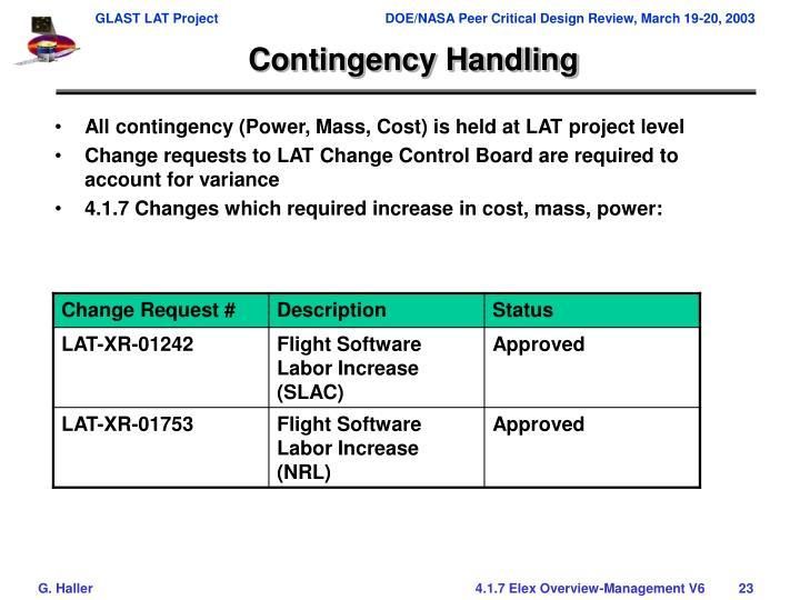Contingency Handling