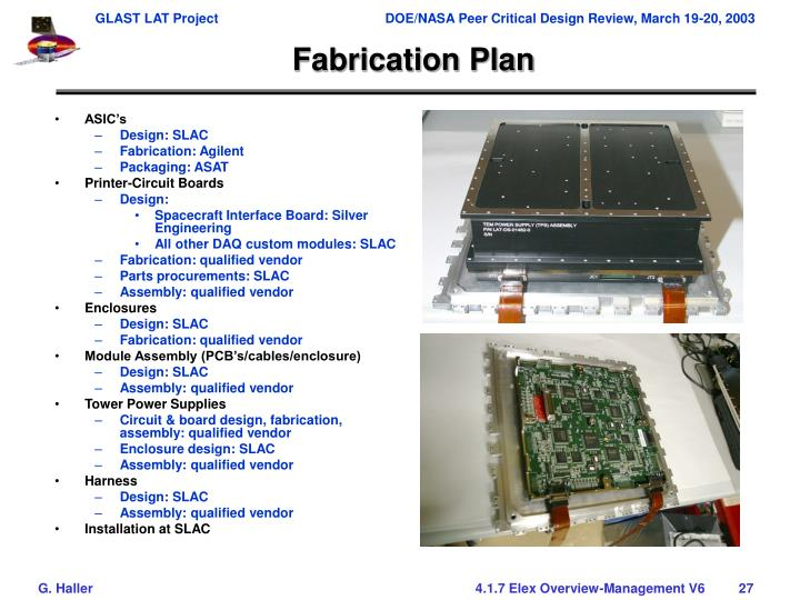 Fabrication Plan