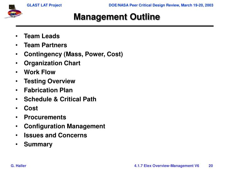 Management Outline