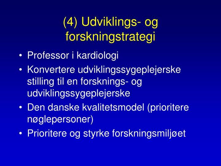 (4) Udviklings- og forskningstrategi