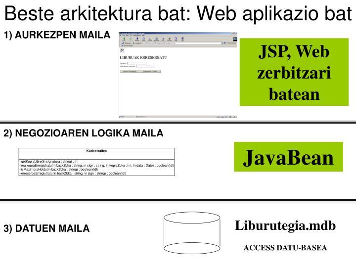 Beste arkitektura bat: Web aplikazio bat