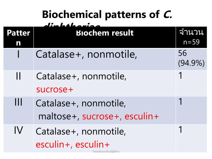 Biochemical patterns of