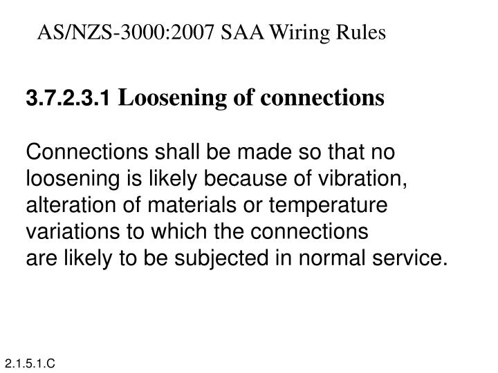 AS/NZS-3000:2007 SAA Wiring Rules