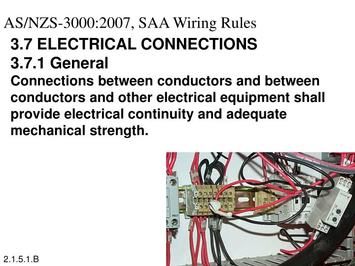 AS/NZS-3000:2007, SAA Wiring Rules
