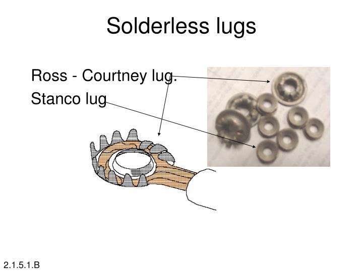 Solderless lugs