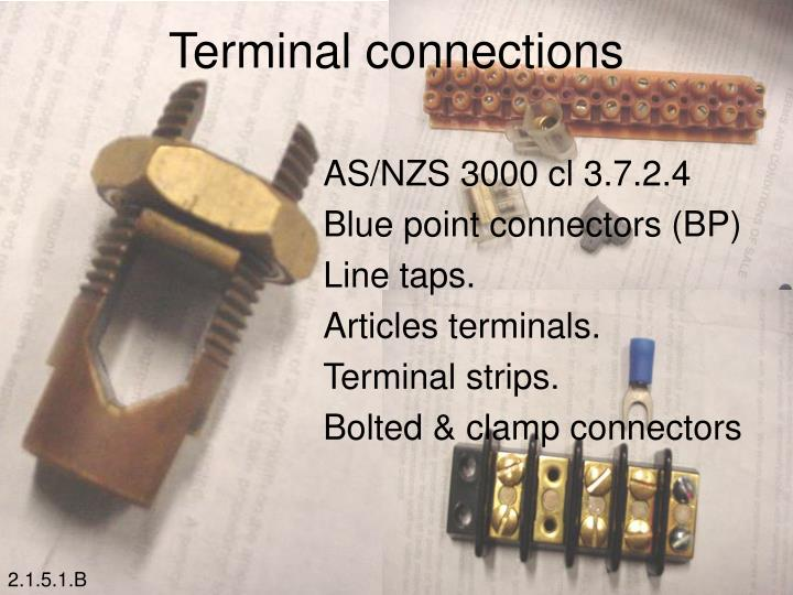 Terminal connections