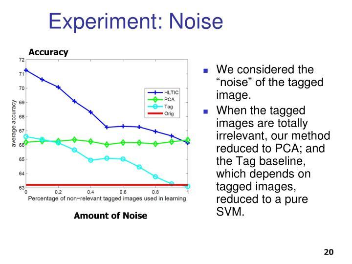 Experiment: Noise