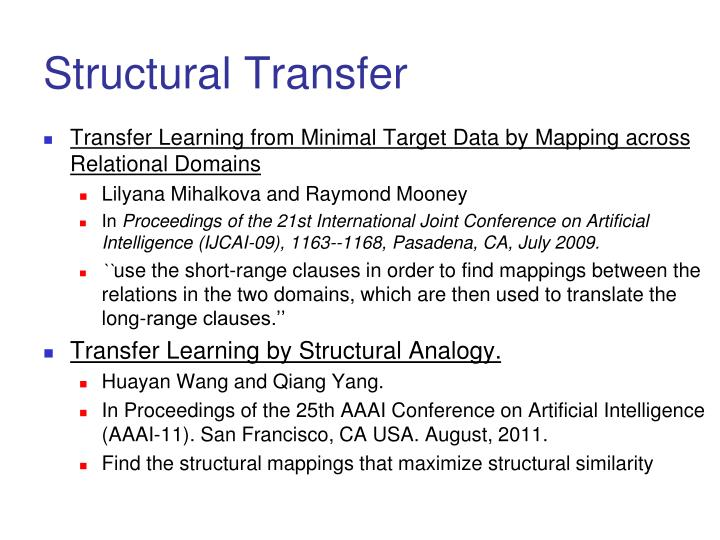 Structural Transfer