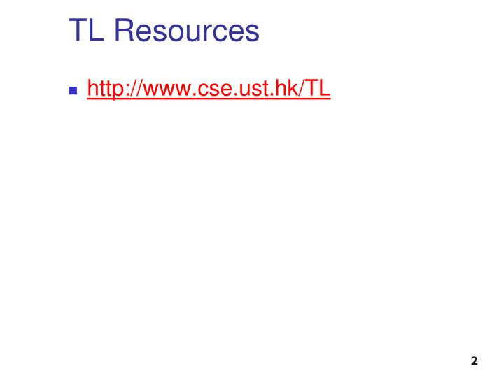 TL Resources