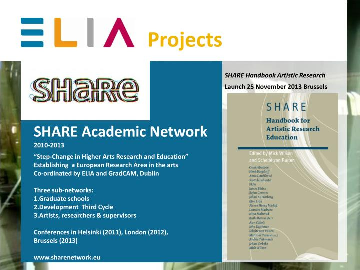 SHARE Handbook Artistic Research