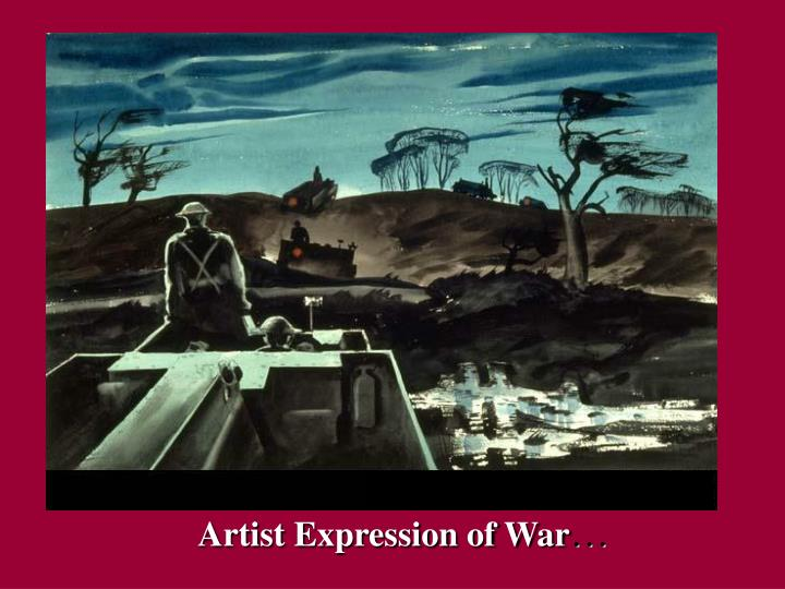 Artist Expression of War