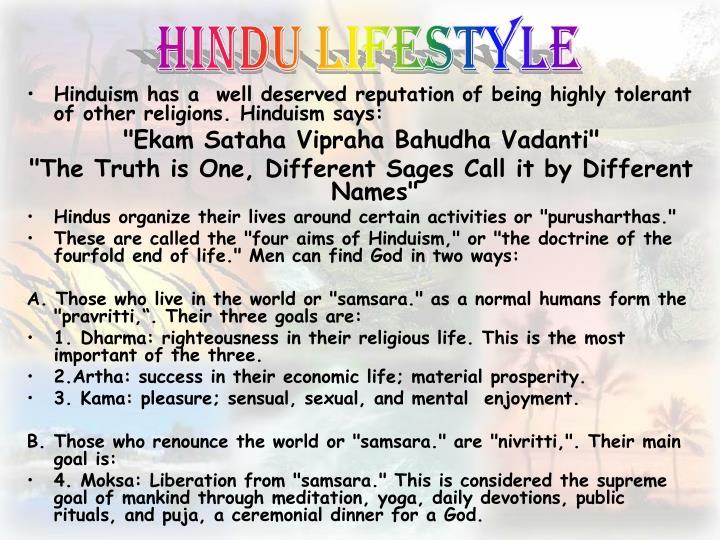 Hindu Lifestyle