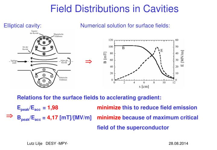 Field Distributions in Cavities