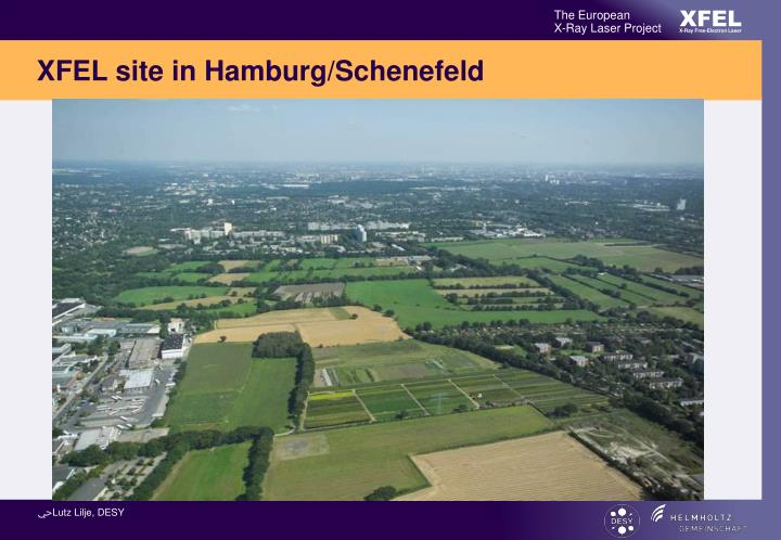 XFEL site in Hamburg/Schenefeld