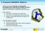2 programa canadeka objetivos