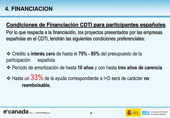 4. FINANCIACION