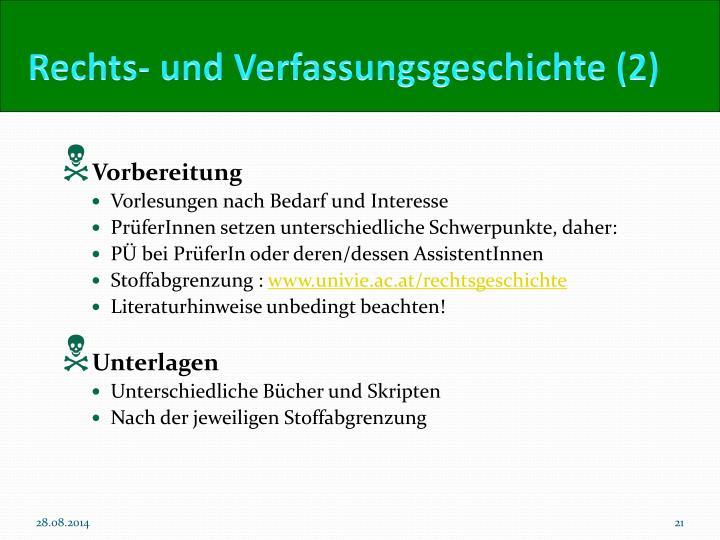 Rechts- und Verfassungsgeschichte (2)