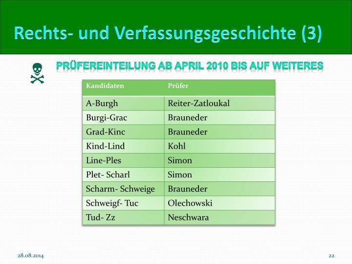 Rechts- und Verfassungsgeschichte (3)