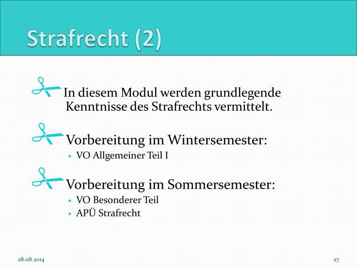Strafrecht (2)
