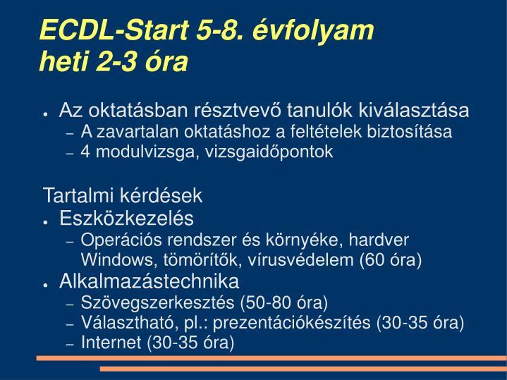 ECDL-Start 5-8. évfolyam