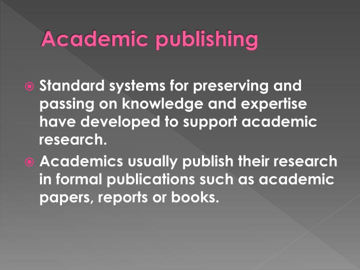 importance of publishing research papers pdf
