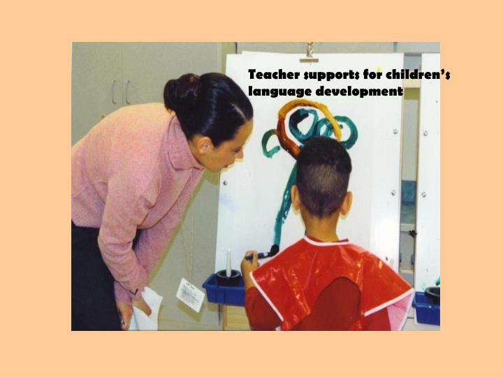 Teacher supports for children's language development