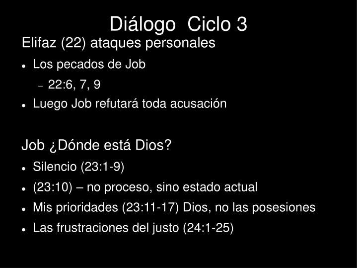 Diálogo  Ciclo 3