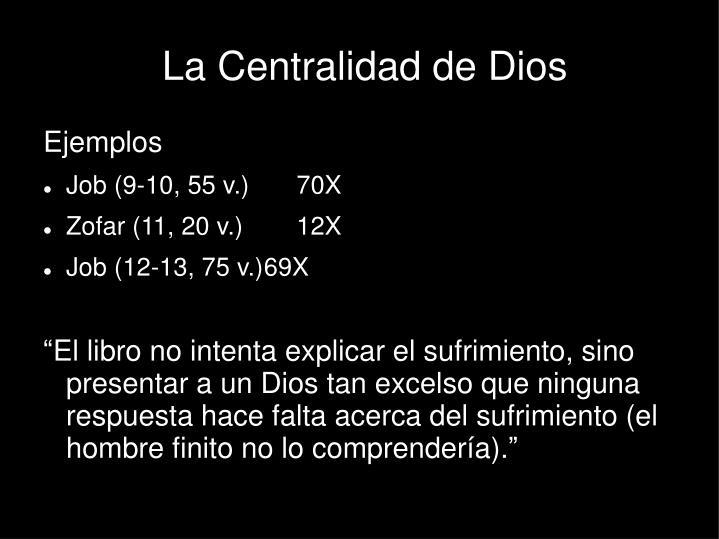 La Centralidad de Dios
