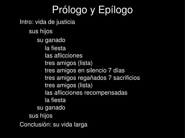 Prólogo y Epílogo