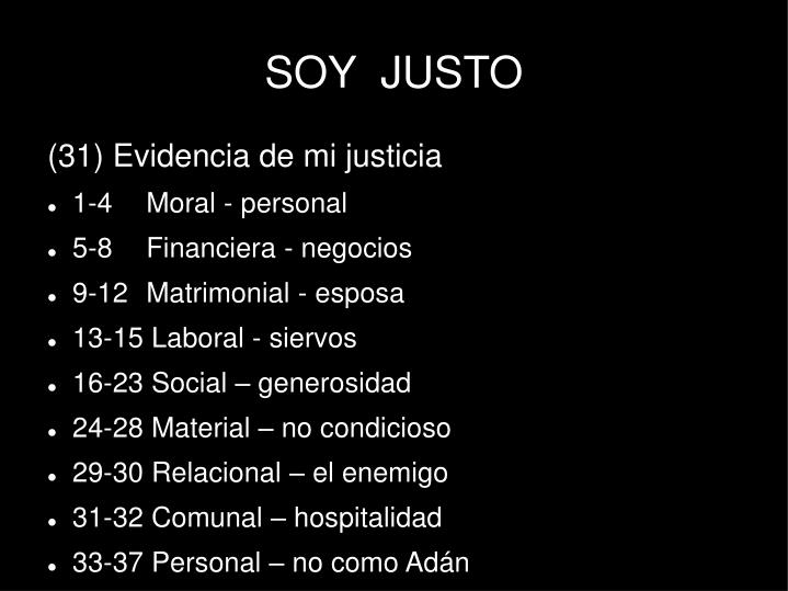 SOY  JUSTO
