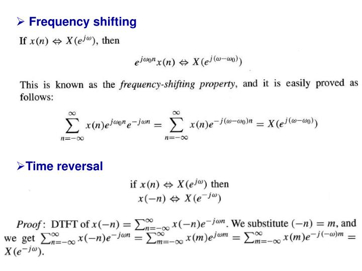 Frequency shifting